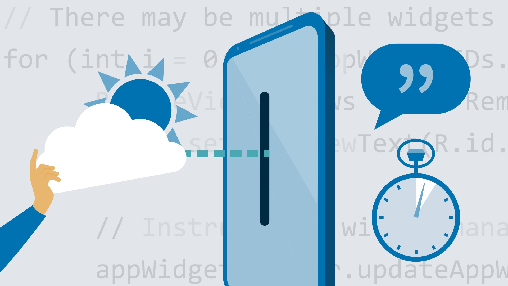 آموزش توسعه برنامه Android: کار با ابزارک ها