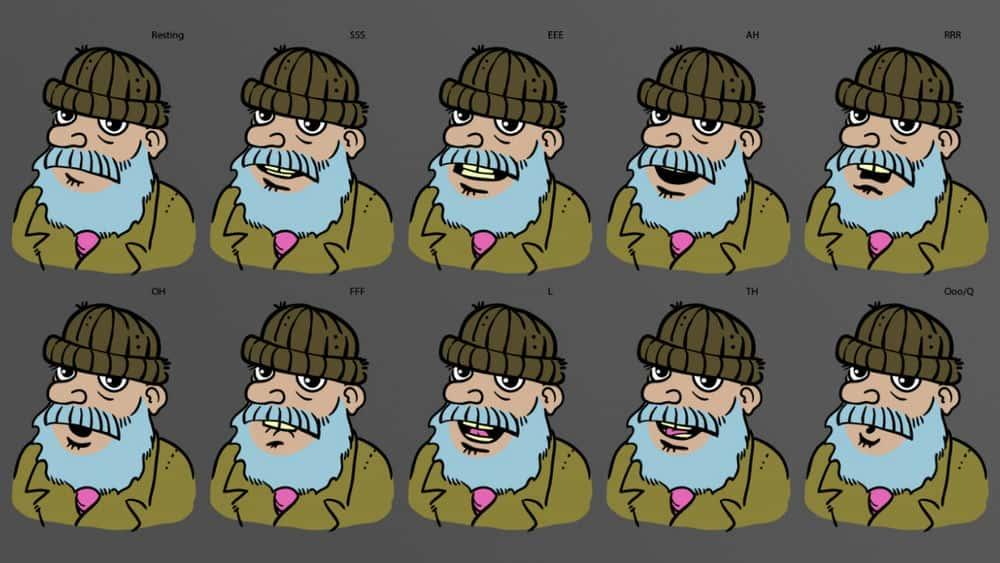 آموزش ایجاد واج برای انیمیشن شخصیت در Illustrator