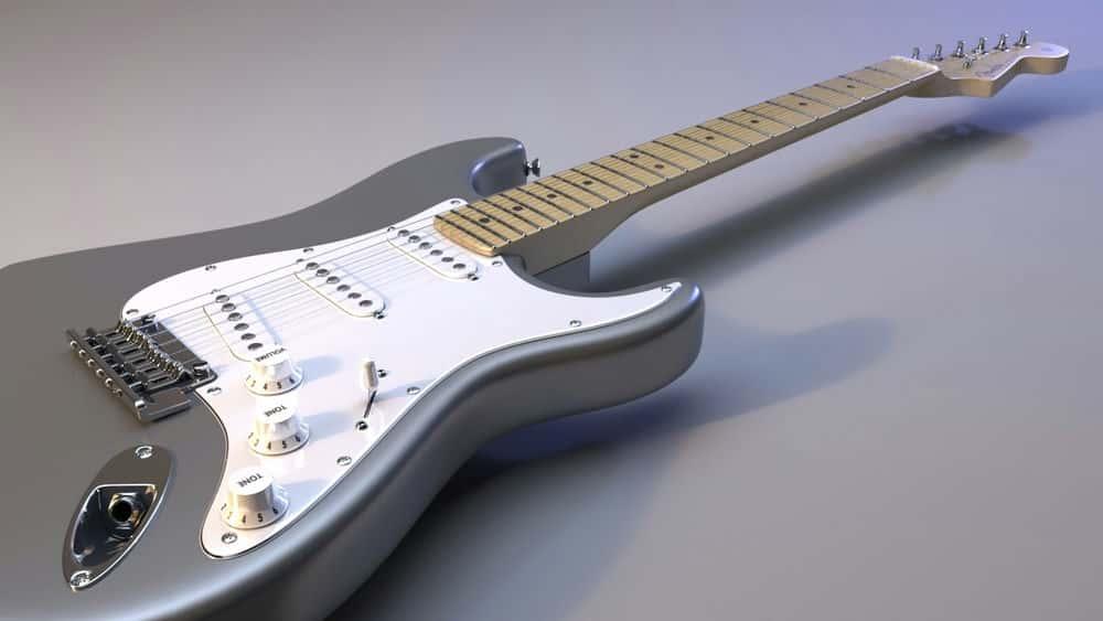 آموزش مدل سازی یک گیتار الکتریک تفصیلی در مایا