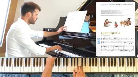 آموزش روش پیانو برای مبتدیان - درسهای پیانو