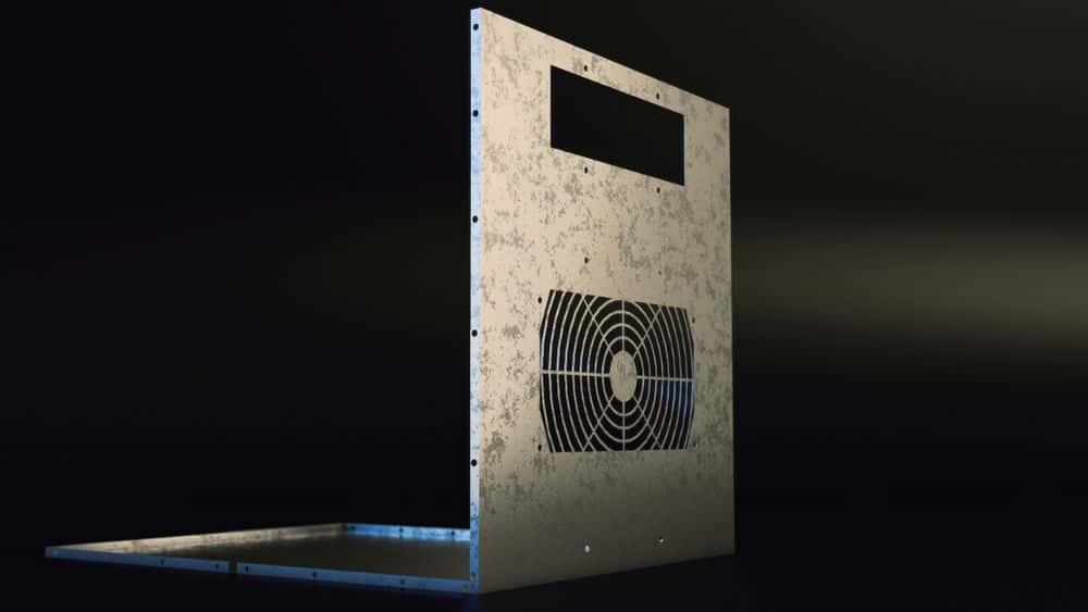 آموزش SOLIDWORKS ورق فلز - طراحی قسمت محفظه