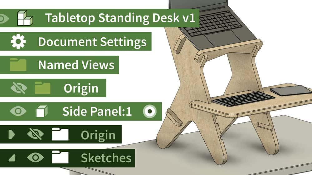 آموزش Fusion 360: یک میز ایستاده پارامتری طراحی کنید