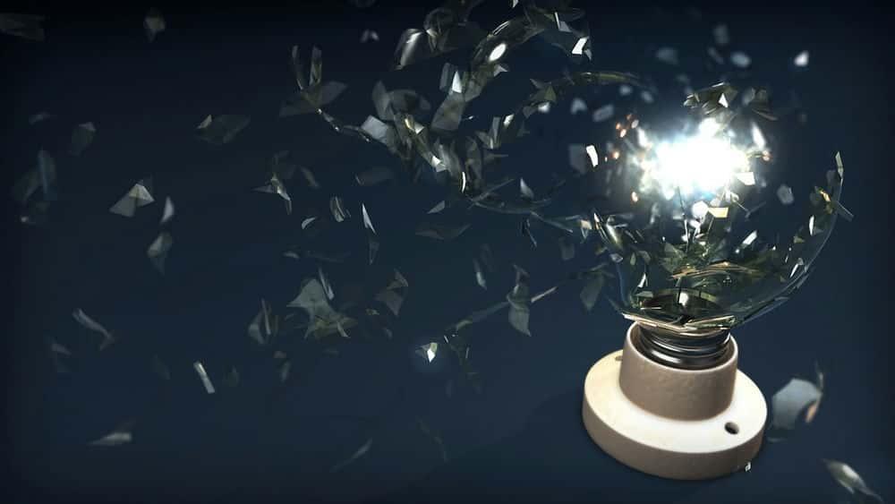 آموزش شبیه سازی لامپ خرد کننده در مایا