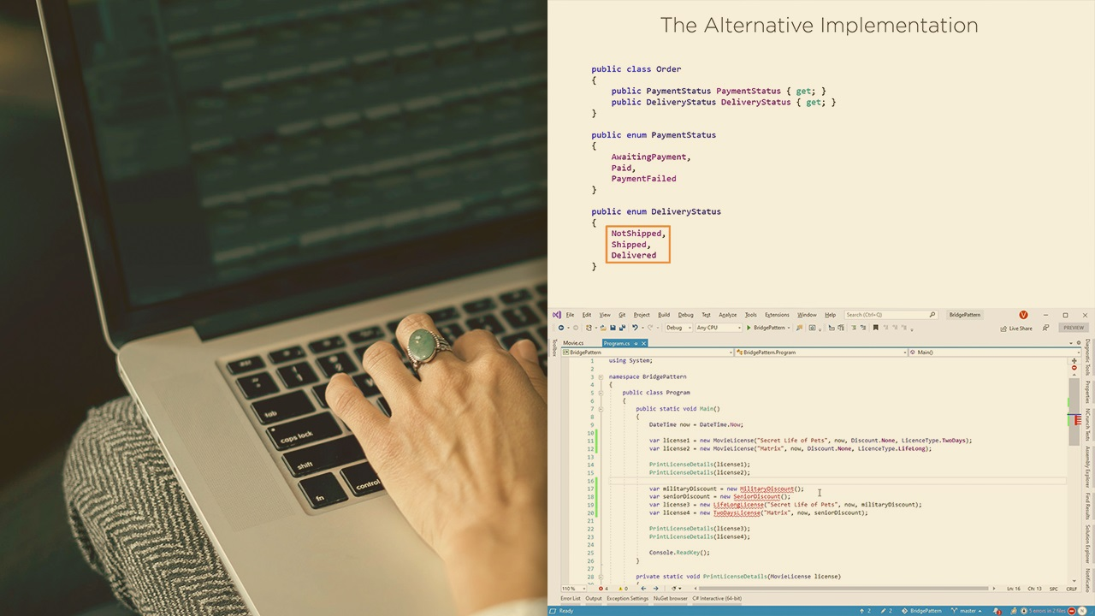 آموزش الگوهای طراحی C #: پل