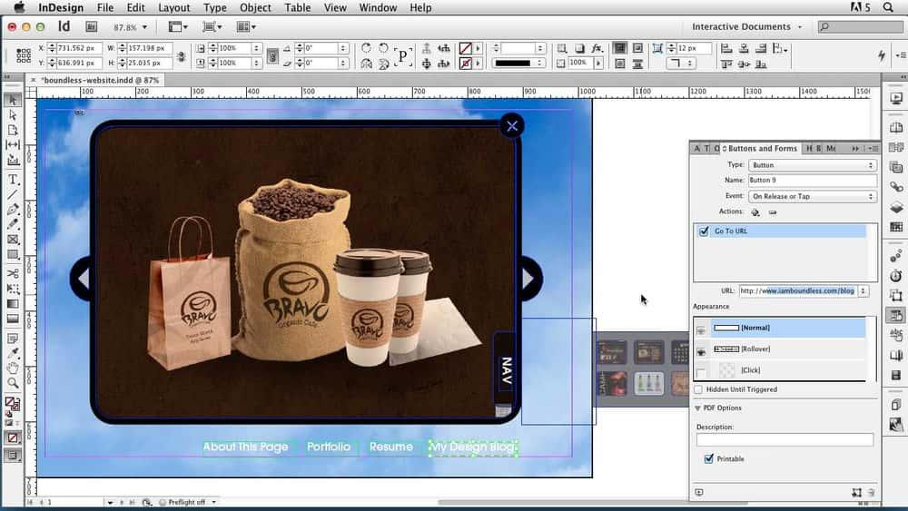 آموزش InDesign CS6: اسناد تعاملی