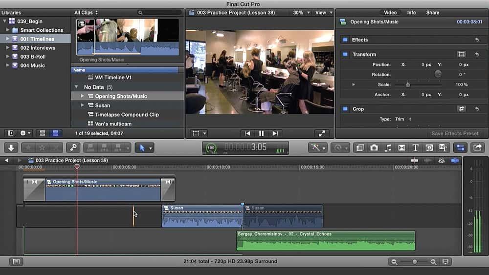 آموزش آشنایی با طراحی صدای دیجیتال موثر در Final Cut Pro X