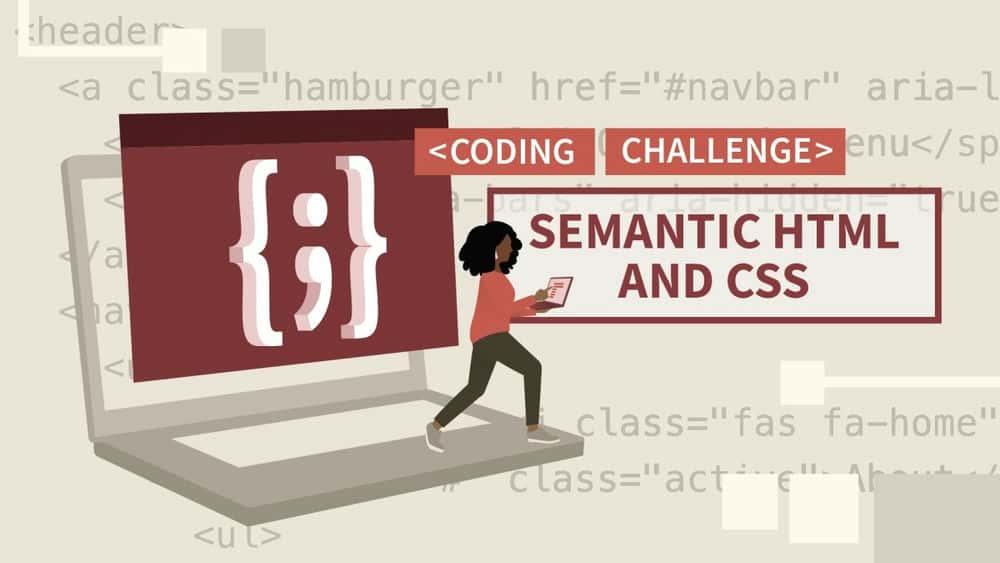 آموزش چالش های کد معنایی HTML و CSS