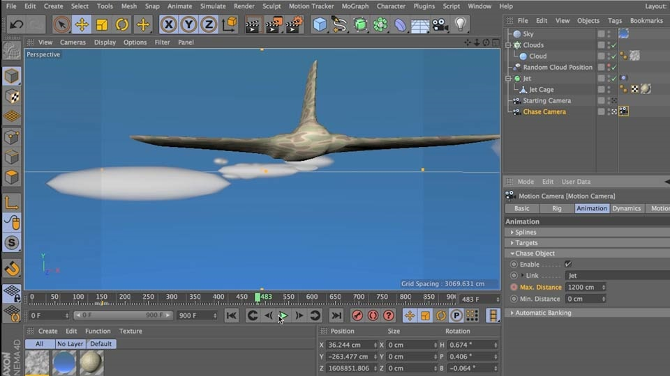 آموزش Cinema 4D: انیمیشن دوربین