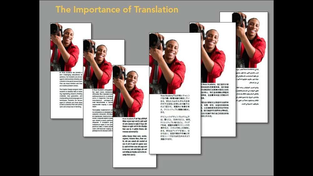 آموزش InDesign: استراتژی های انتشار چند زبانه