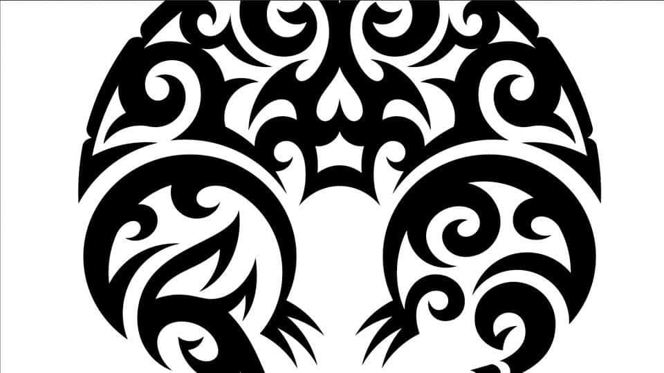 آموزش طراحی گرافیک برداری: تصویر قبیله ای
