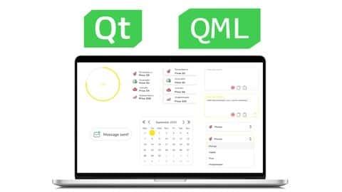 آموزش کنترل های Qt (QML) عالی