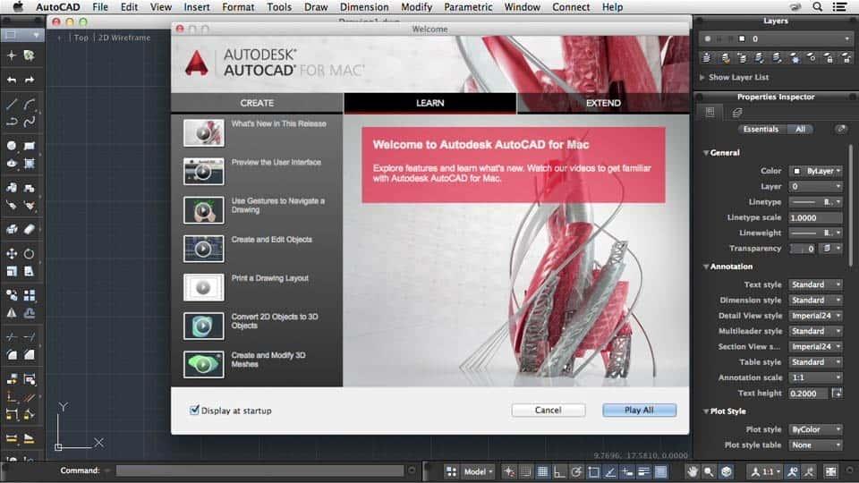 آموزش اتوکد برای Mac 2014 ویژگی های جدید