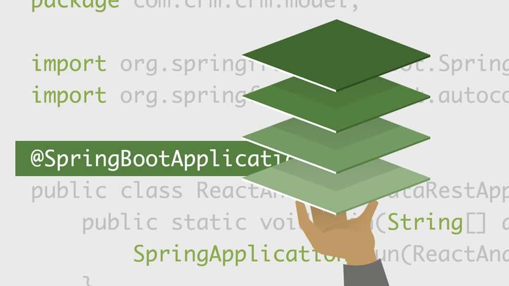 آموزش ساخت برنامه های پشته ای کامل با React و Spring