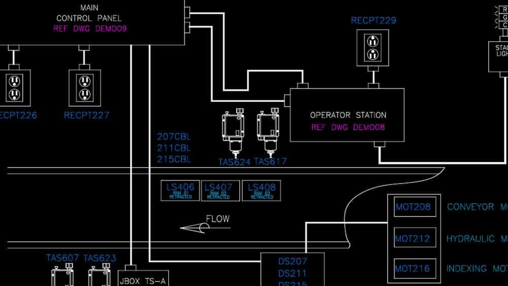 آموزش اتوکد برق: اجرای PLC ها