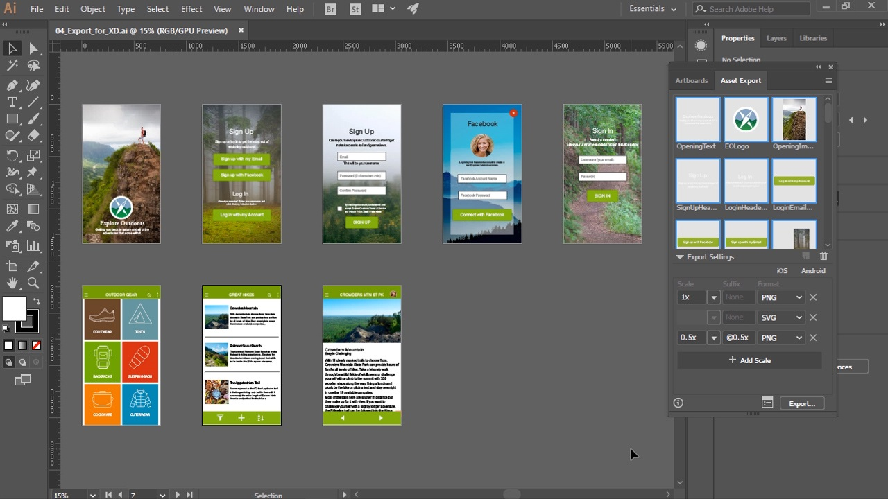 آموزش Illustrator CC برای طراحی UX
