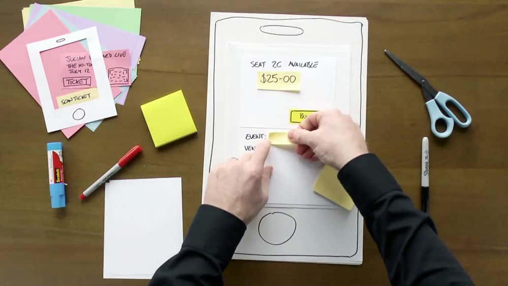 آموزش طراحی UX: 6 نمونه اولیه از کاغذ
