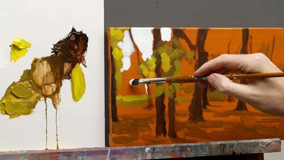 آموزش مبانی نقاشی: ایجاد پالت برای چشم انداز