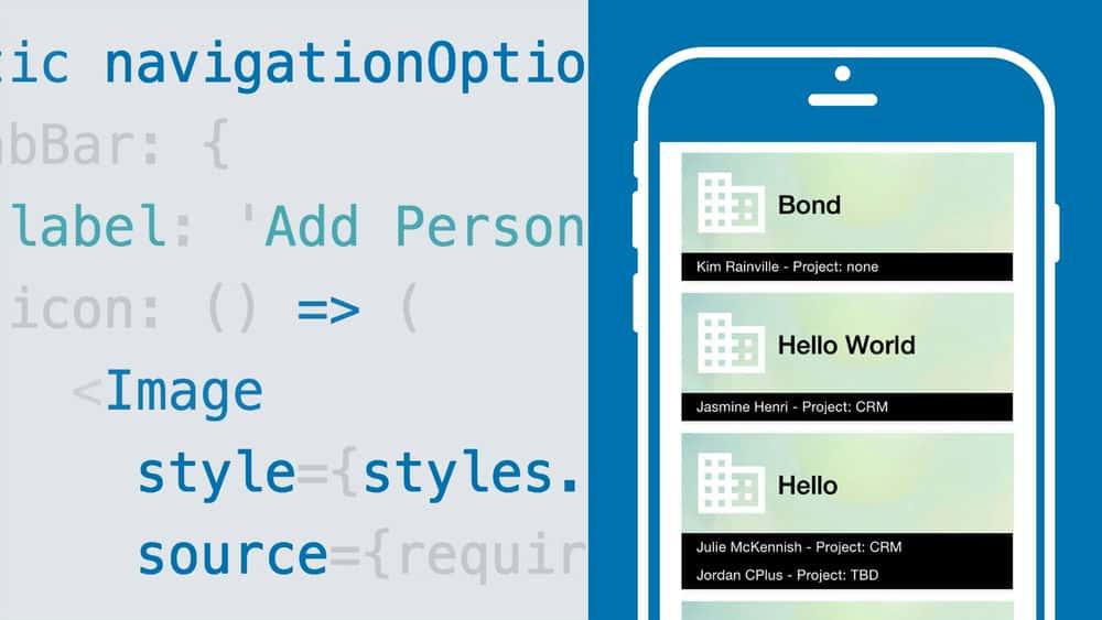 آموزش یک برنامه موبایل CRM با React Native ایجاد کنید