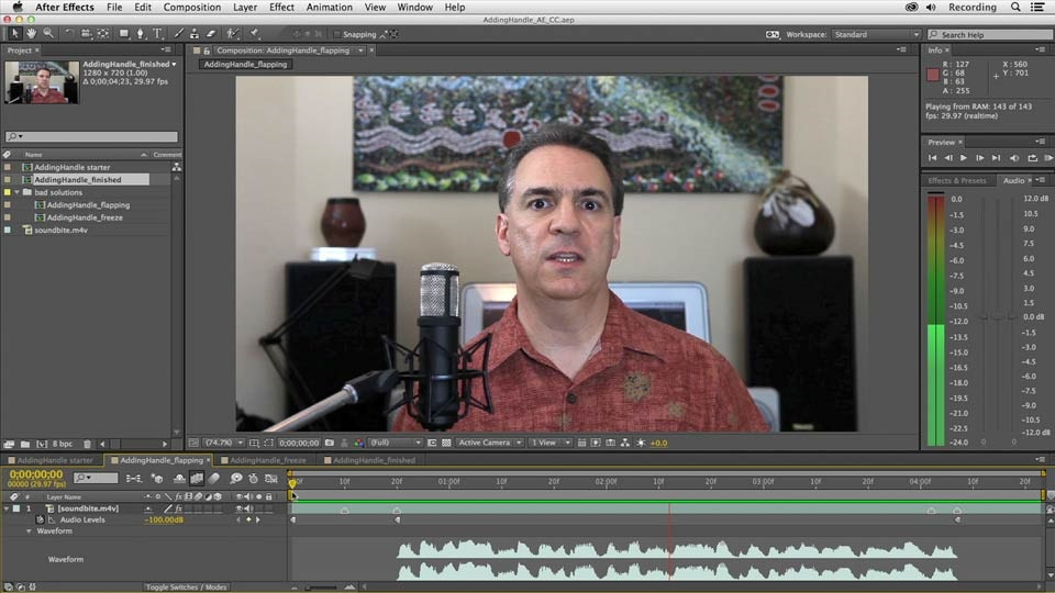 آموزش Premiere Pro و افتر افکت: افزودن دسته به صدای گزش
