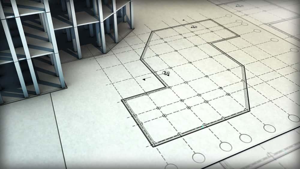 آموزش طراحی نقشه های بنیاد در اتوکد