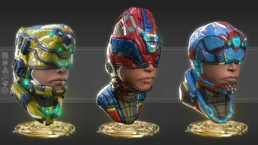 آموزش مجسمه سازی نیم تنه های شخصیت Sci-Fi Mech در ZBrush و KeyShot