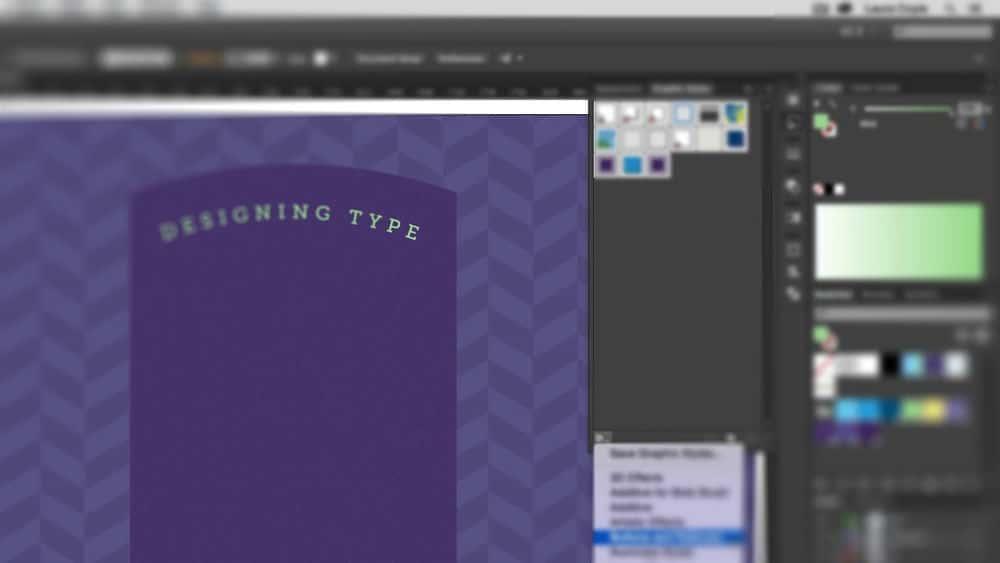 آموزش Illustrator CC نوع طراحی با سبک های گرافیکی