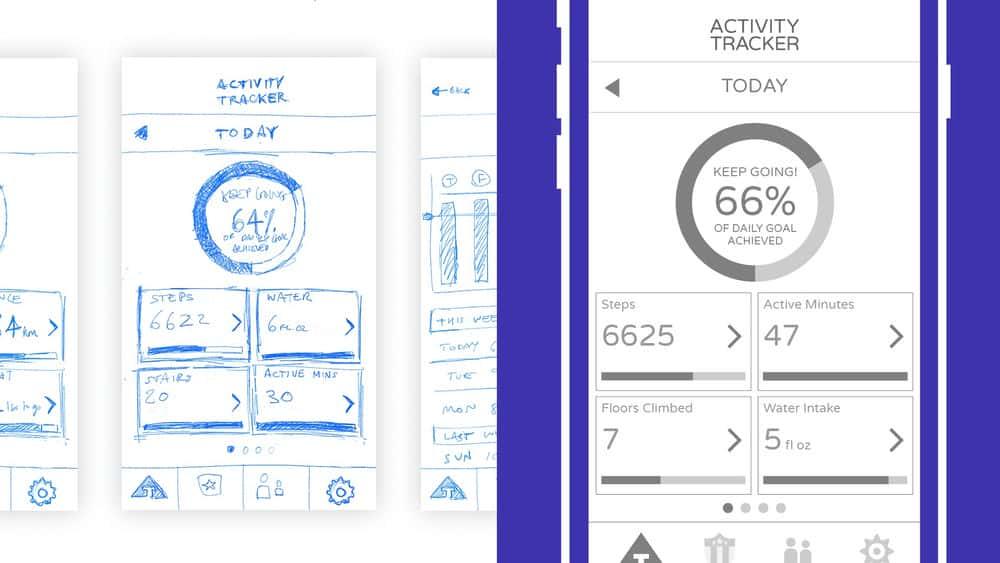آموزش طراحی UI برنامه متحرک با Illustrator