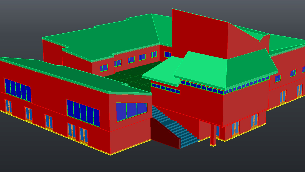 آموزش اتوکد: مدل سازی معماری سه بعدی