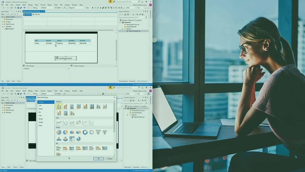 آموزش SSRS گزارش طراحی و فرم قالب بندی داده ها