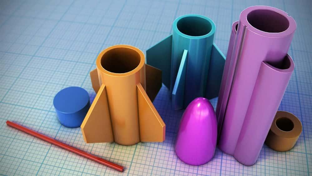 آموزش طراحی یک موشک برای چاپ سه بعدی در Tinkercad