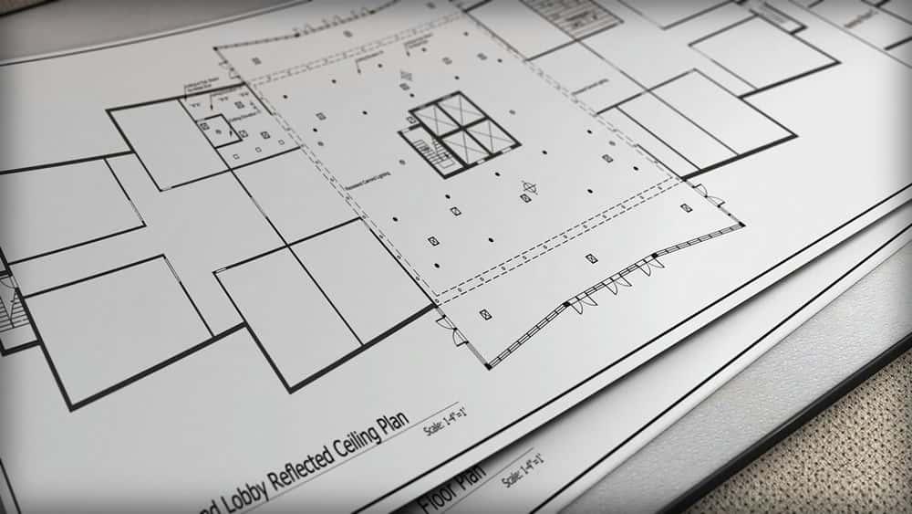 آموزش طراحی نقشه های سقف منعکس شده در اتوکد