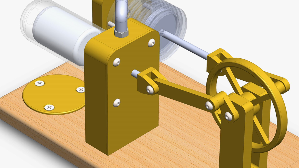 آموزش SOLIDWORKS: طراحی موتور استرلینگ