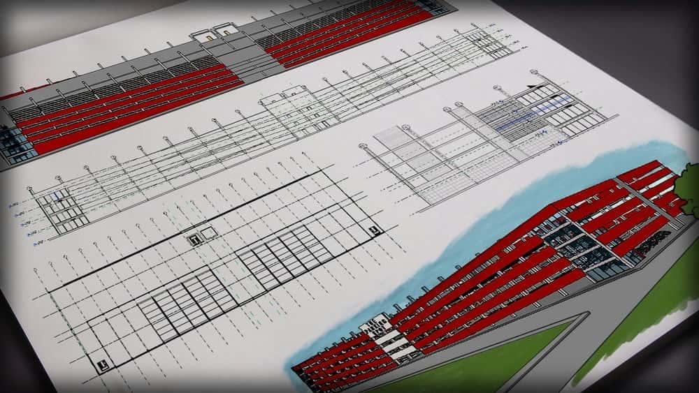 آموزش مدل سازی یک ساختار پارکینگ بزرگ در چند سطح در Revit