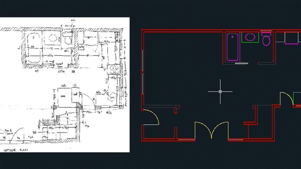 آموزش ایجاد یک نقشه معماری با اتوکد 2013