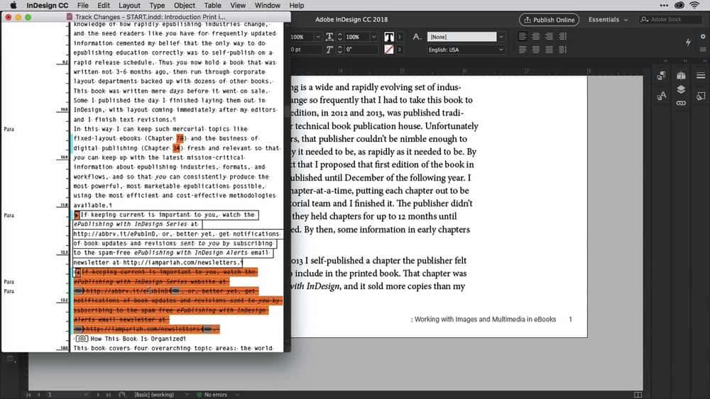آموزش InDesign CC در حال توسعه اسناد ، کتابها و کتاب های راهنمای طولانی