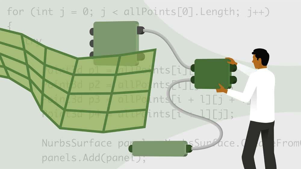 آموزش Grasshopper and Rhino: C # Scripting