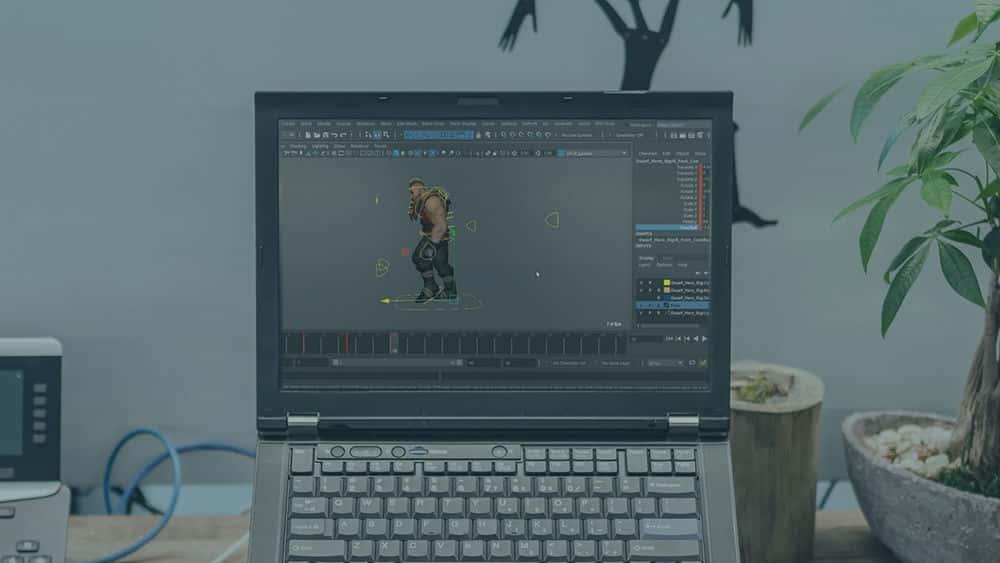 آموزش انیمیشن شخصیت بازی در مایا و وحدت