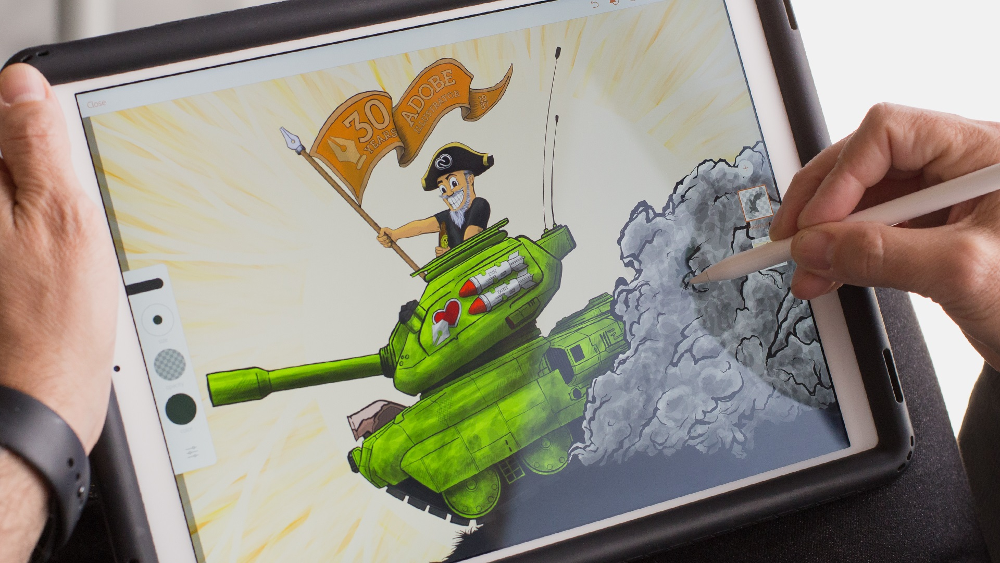آموزش نقاشی تصویرگر: موبایل در حال کار