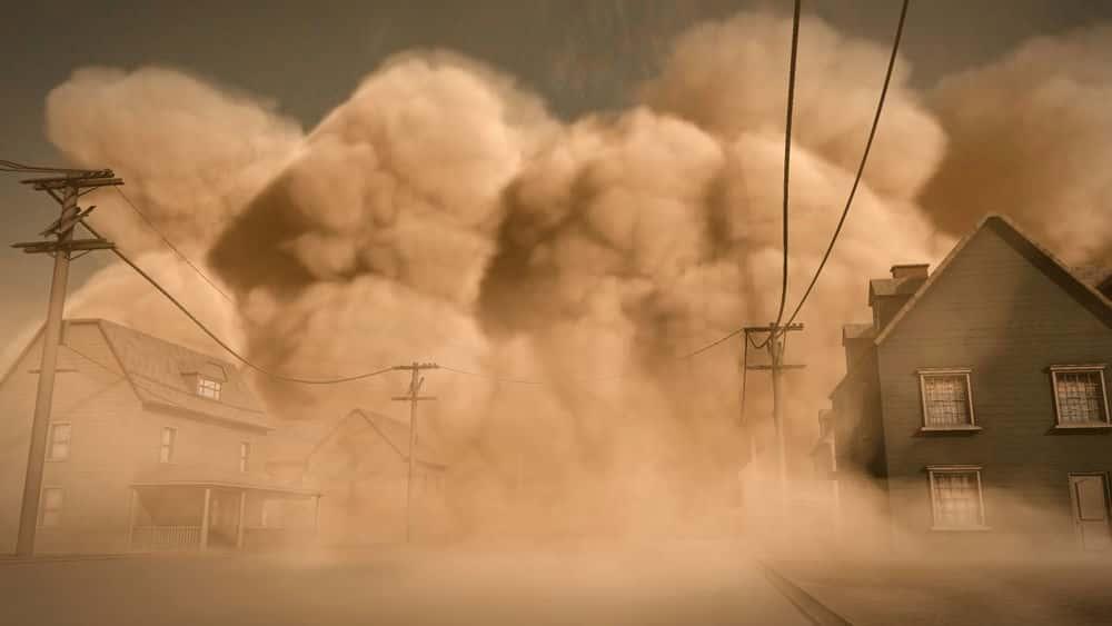 آموزش شبیه سازی طوفان گرد و غبار بزرگ در مایا