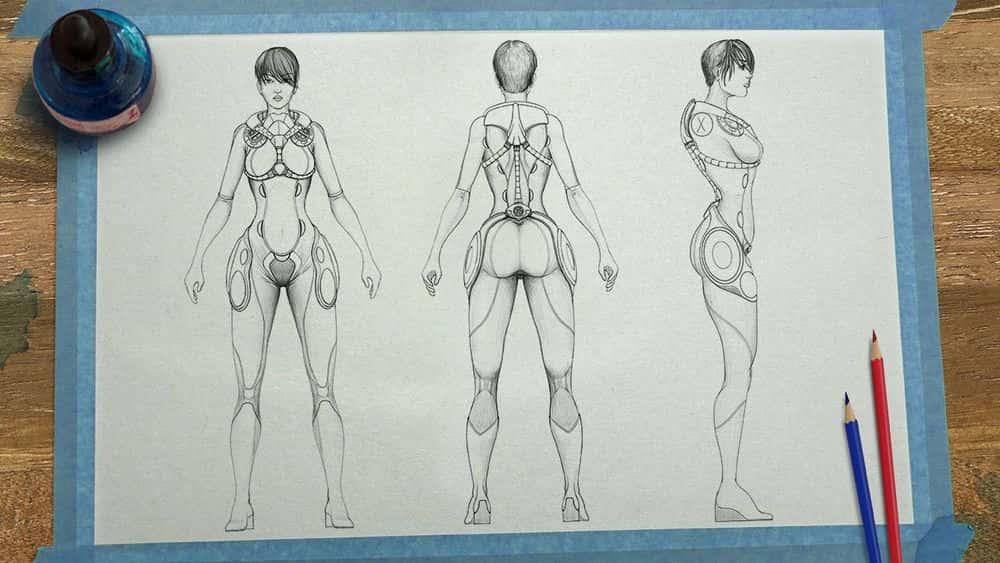 آموزش طراحی صفحات مدل شخصیت در SketchBook Pro