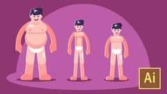 آموزش Illustrator CC را بیاموزید: شخصیت های ساده مسطح ایجاد کنید
