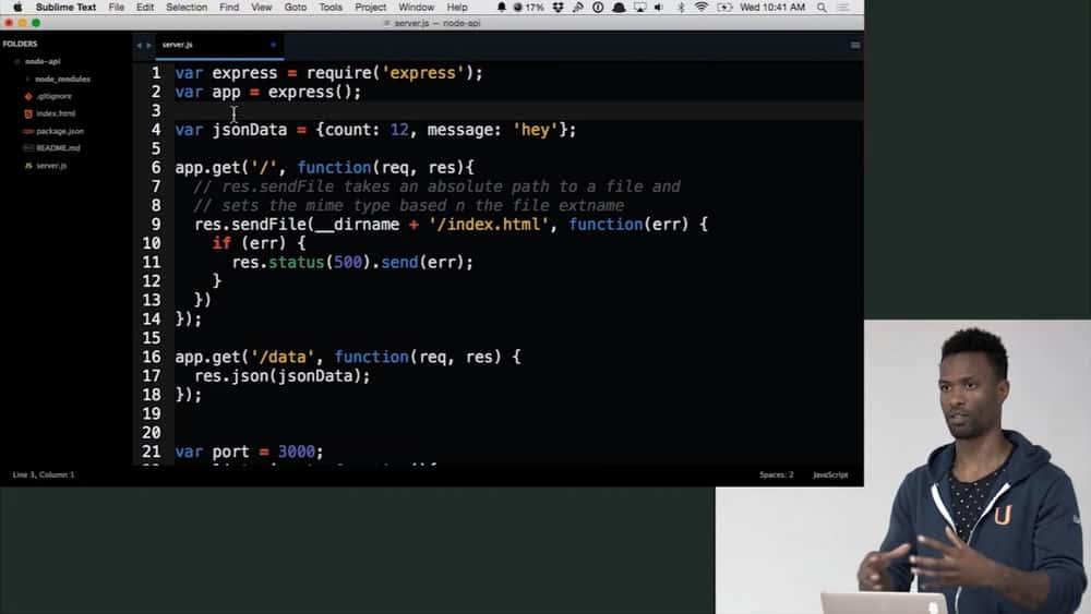 آموزش طراحی API در Node.js با Express و Mongo