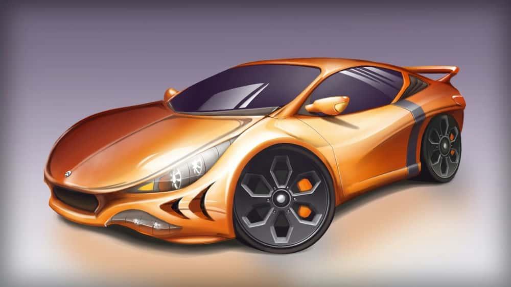 آموزش ایجاد مفاهیم خودرو در SketchBook Pro