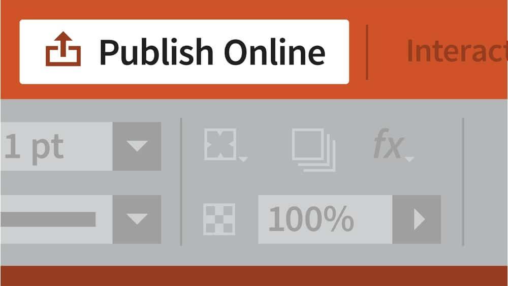 آموزش InDesign: اسناد تعاملی
