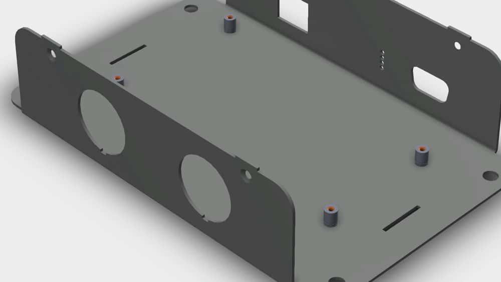 آموزش طراحی محفظه ورق فلزی با SOLIDWORKS