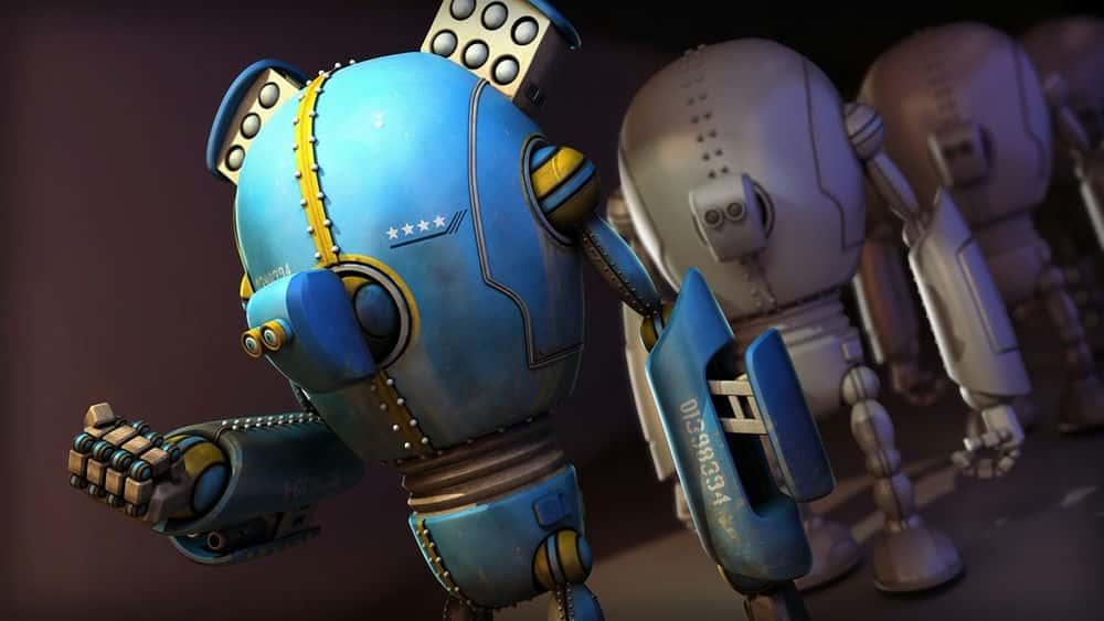 آموزش بافت یک ربات با Ptex در MARI