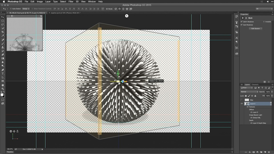آموزش Motion Graphics for Video Editor: کار با اشیا 3D سه بعدی
