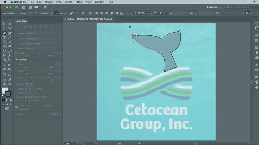 آموزش Illustrator CC Pixels to Vectors