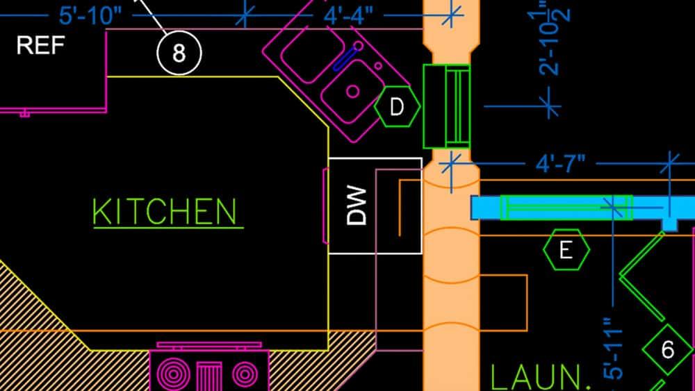 آموزش اتوکد برای Mac 2020: نقشه های ساخت