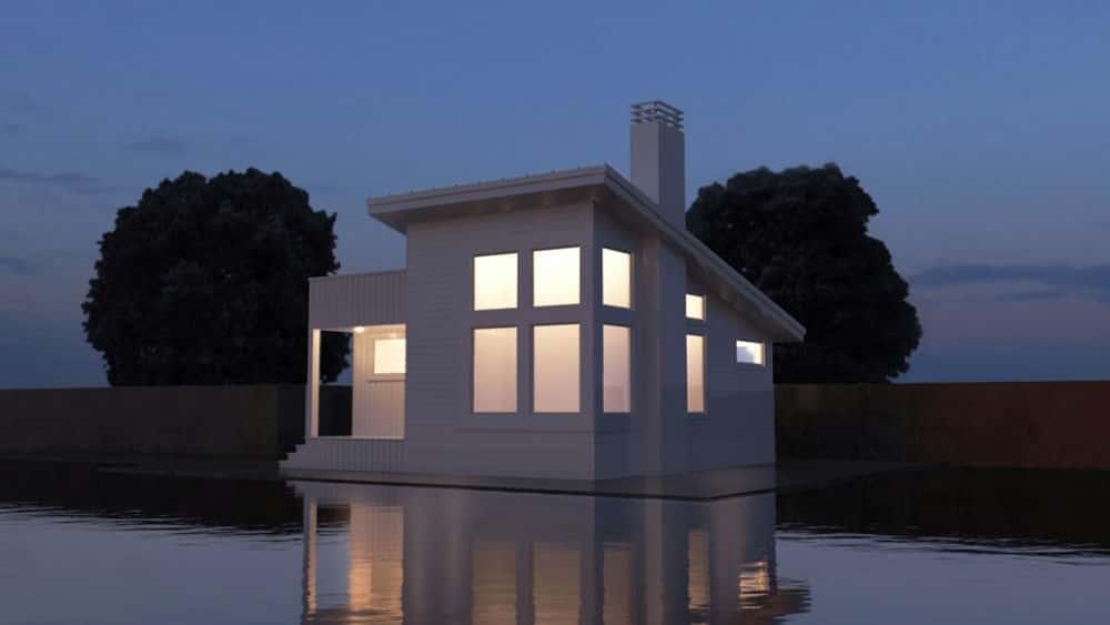 آموزش مدل سازی فضای خارجی مسکونی در اتوکد